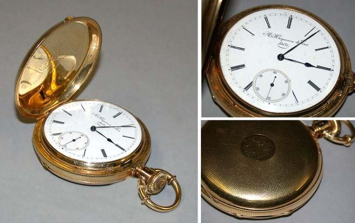 Lot image - Gold Hunting Case Pocket Watch
