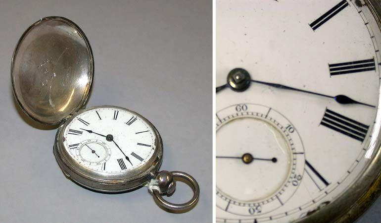 Lot image - Early and Rare Silver Hunting Case Watch
