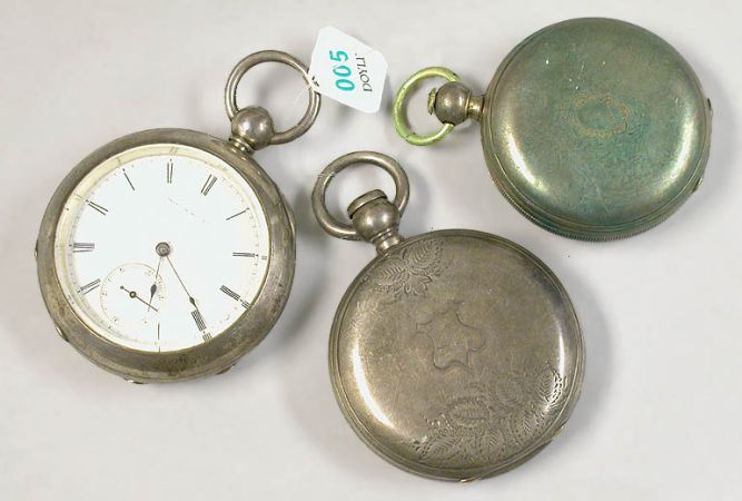Lot image - Three Nickel Silver Pocket Watches