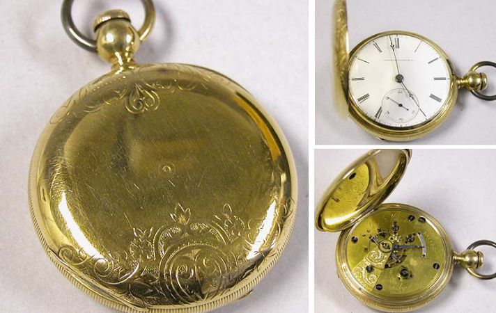 Lot image - Gold Hunting Case Watch