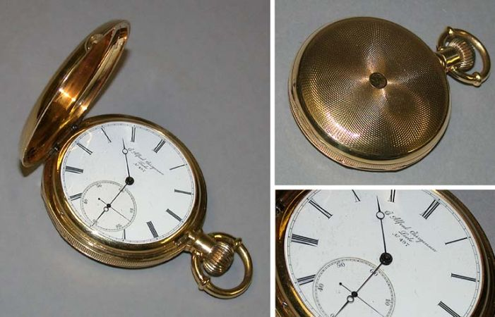 Lot image - Gold Hunting Case Chronometer Watch