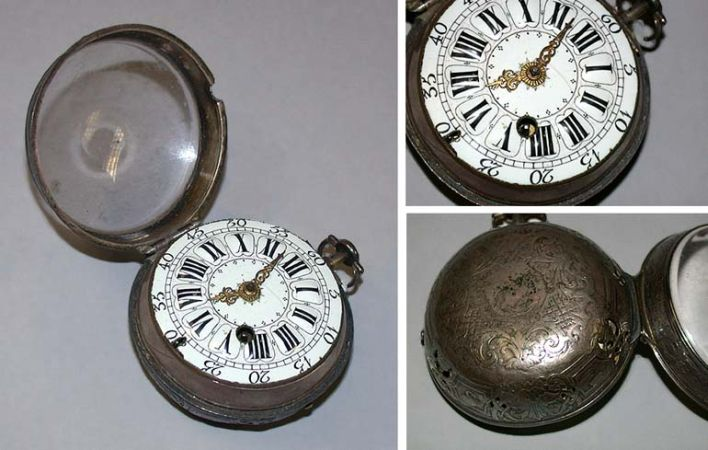 Lot image - Early Silver Oignon Hour Repeater Watch