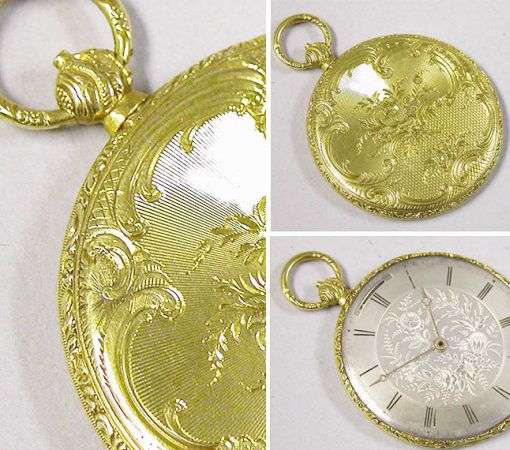 Lot image - Gold Openface Wafer Thin Cylinder Watch