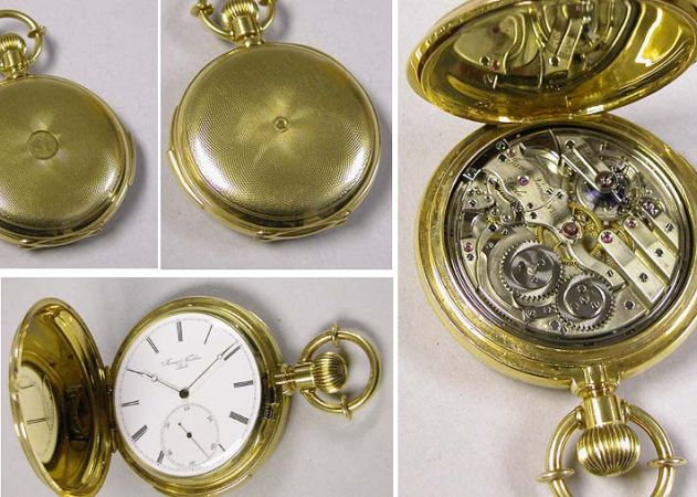 Lot image - Gold Hunting Case Five Minute Repeater
