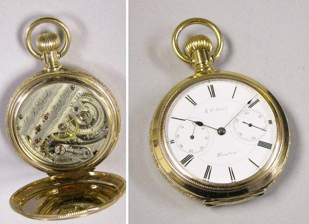 Lot image - Very Rare Gold Openface Watch