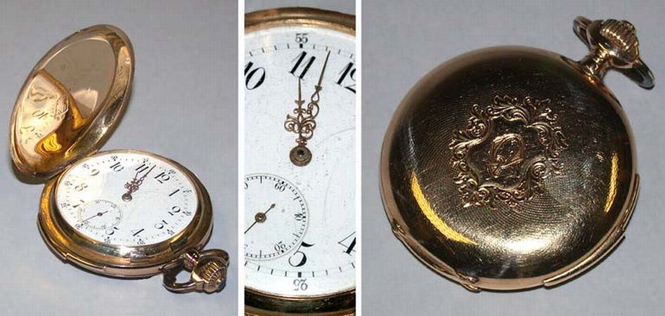 Lot image - Gold Hunting Case Quarter Repeater Watch