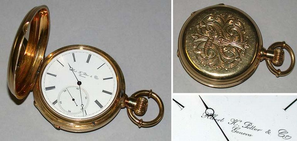 Lot image - Fine and Rare Gold Hunting Case Chronometer Watch