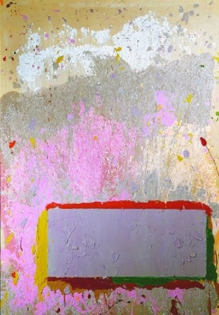Lot image - John Hoyland British, b.1934 ABSTRACT IN MAUVE, 1970