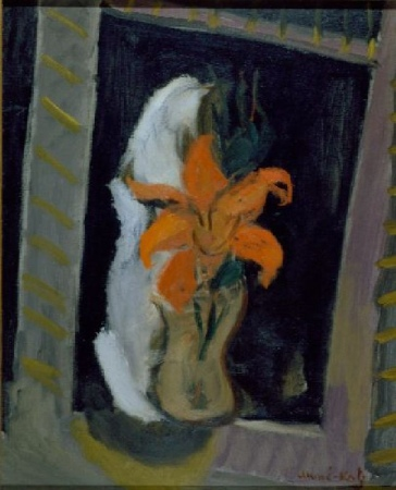 Lot image - Emmanuel Mane-Katz French, 1894-1962 STILL LIFE OF LILY