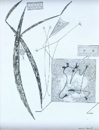 Lot image - Max Ernst German, 1891-1976 ABSTRACT COMPOSITION