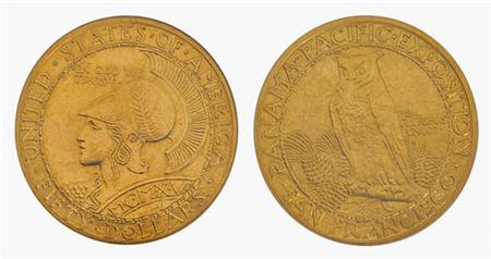 Lot image - 1915 S Panama-Pacific $50 Gold Round
