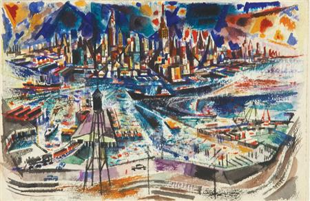 Lot image - David Fredenthal American, 1914-1958 New York from New Jersey