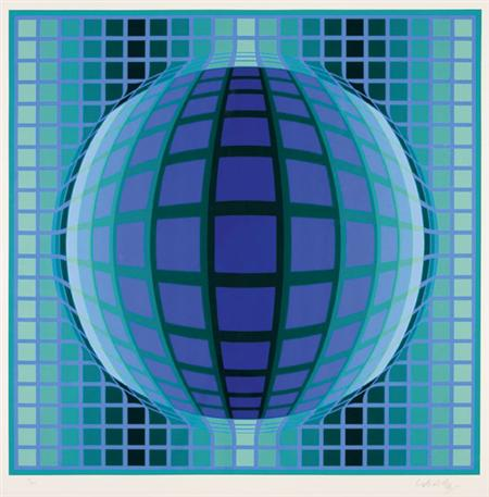 Lot image - Victor Vasarely COMPOSITION Color screenprint