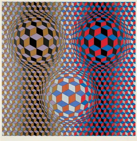 Lot image - Victor Vasarely