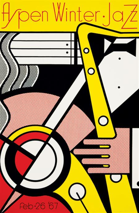 Lot image - Roy Lichtenstein ASPEN FILM FESTIVAL Color screenprint