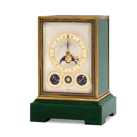 Lot image - French Art Deco Eight Day Quarter Chiming Clock