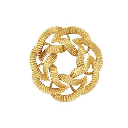 Lot image - Gold Wreath Brooch, Tiffany & Co.