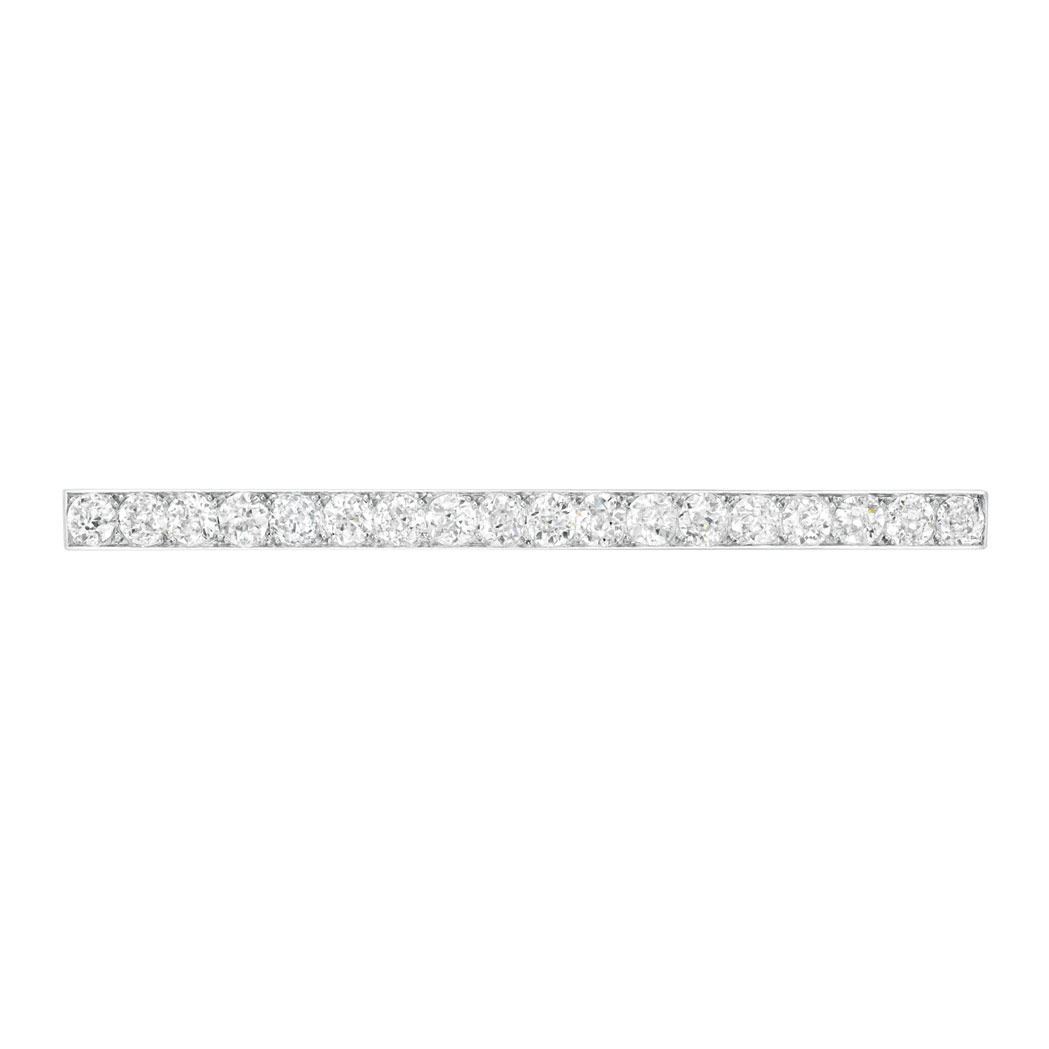 Lot image - Platinum and Diamond Bar Pin, Cartier