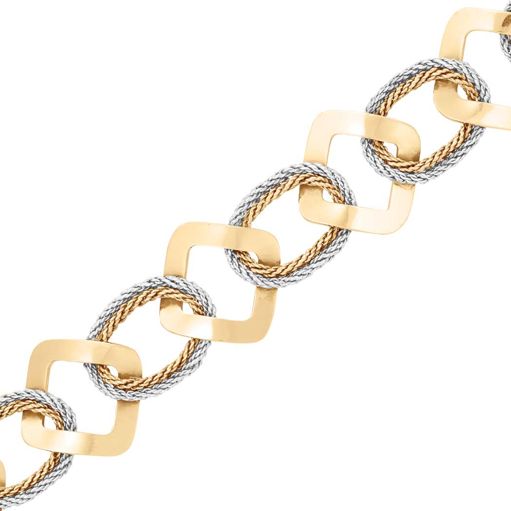 Lot image - Two-Color Gold Bracelet