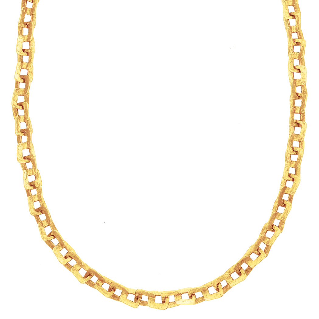 Lot image - Gold Chain Necklace/Bracelet Combination, by Ed Weiner