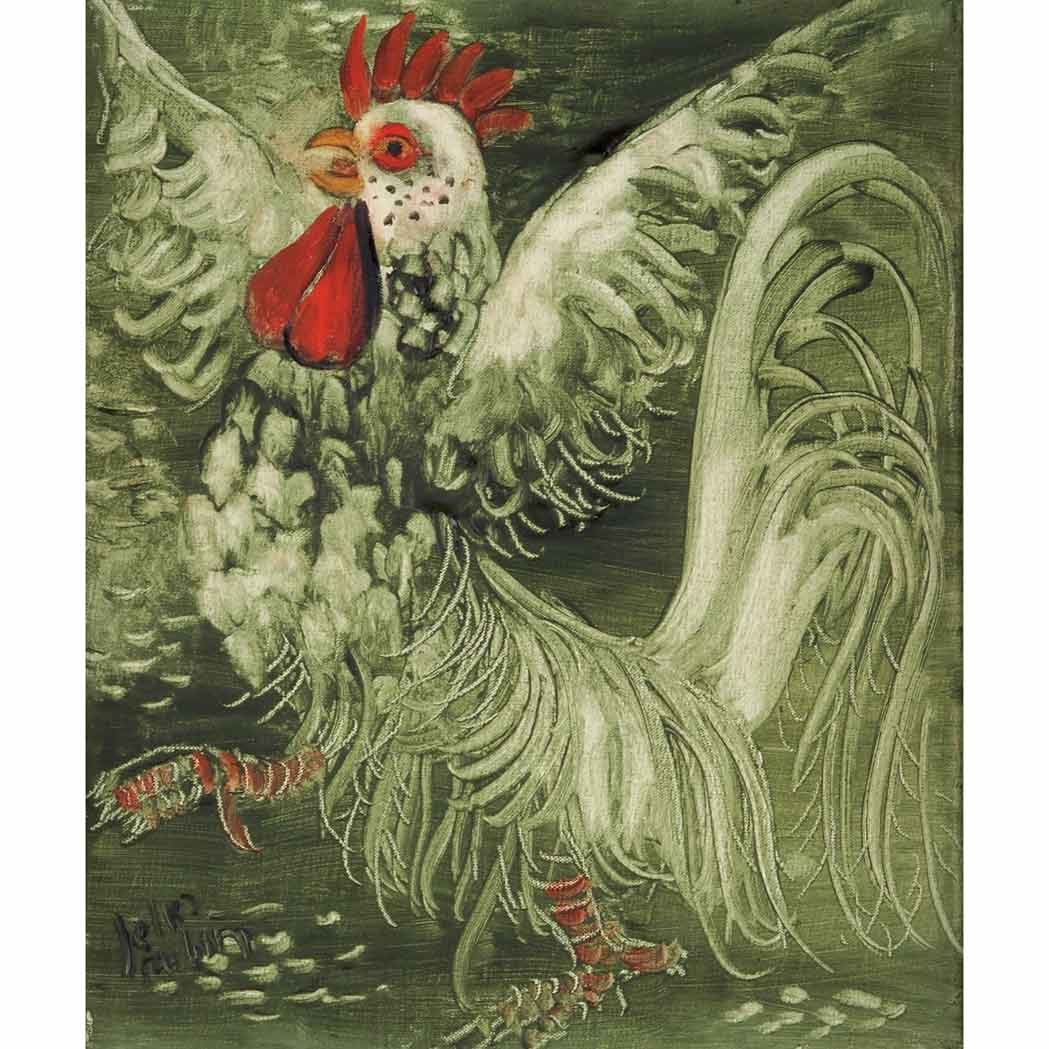 Lot image - Reuven Rubin Israeli, 1893-1974 The Rooster