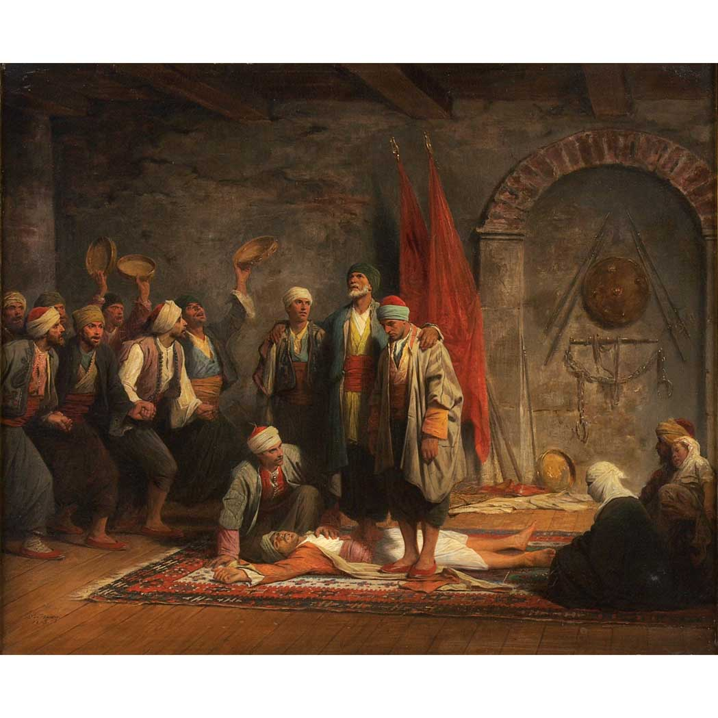 Lot image - Adolphe Yvon French, 1817-1893 A Sufi Ritual, 1879