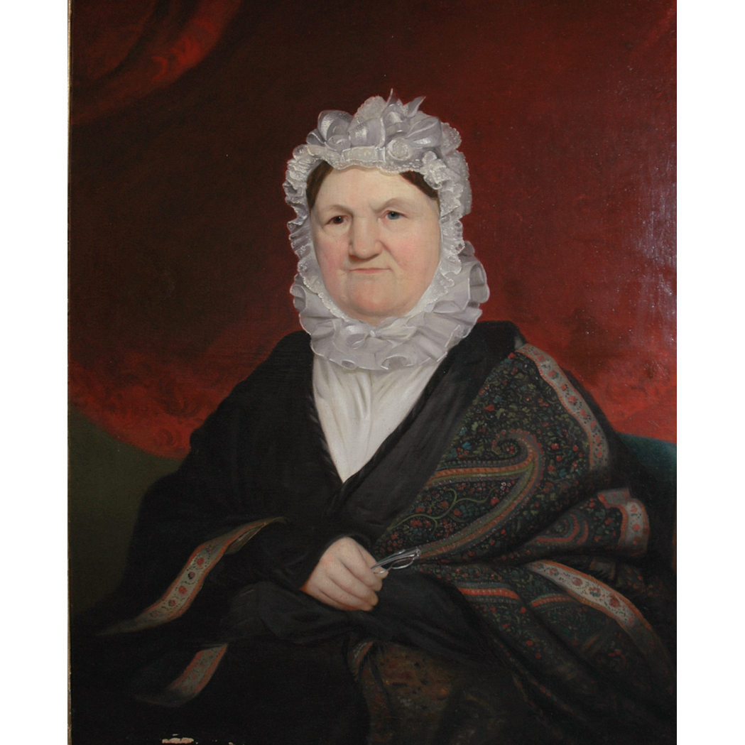 Lot image - American School 19th Century Portrait of a Woman