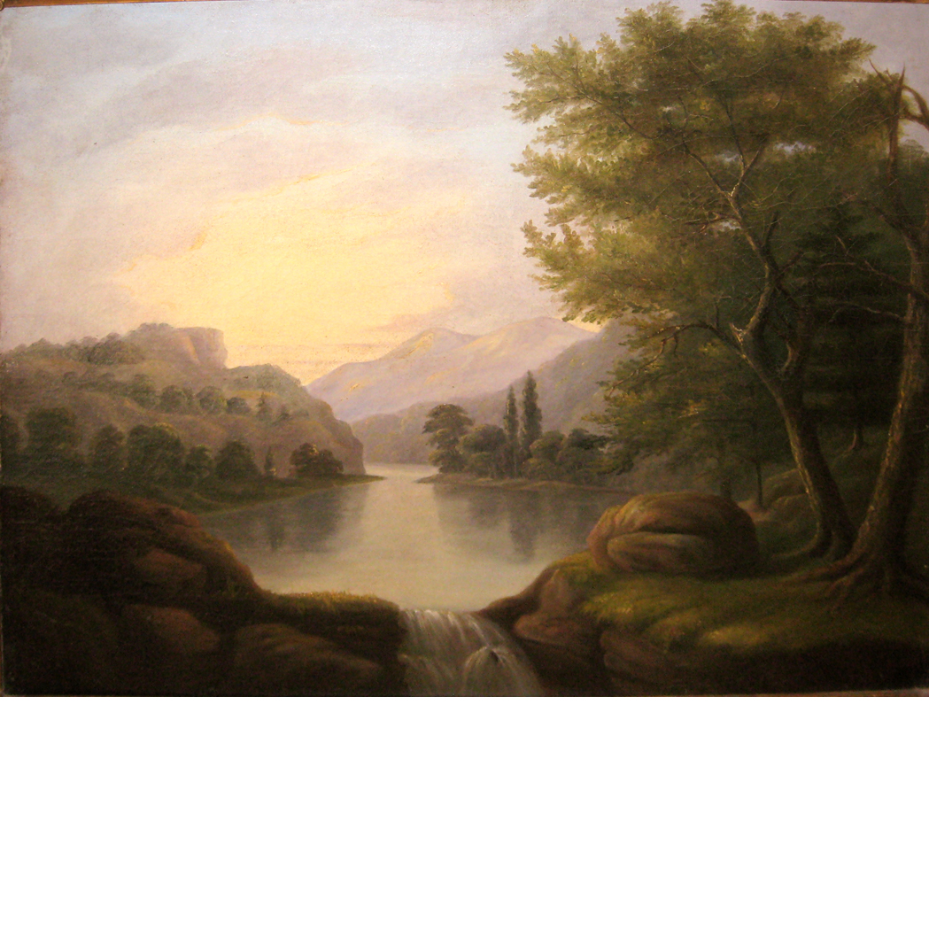 Lot image - American School 19th Century Hudson River Landscape