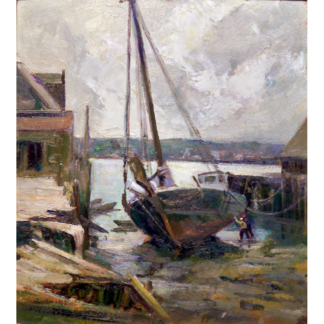 Lot image - Caroline M. Bell American, 1874-1970 Low Tide
