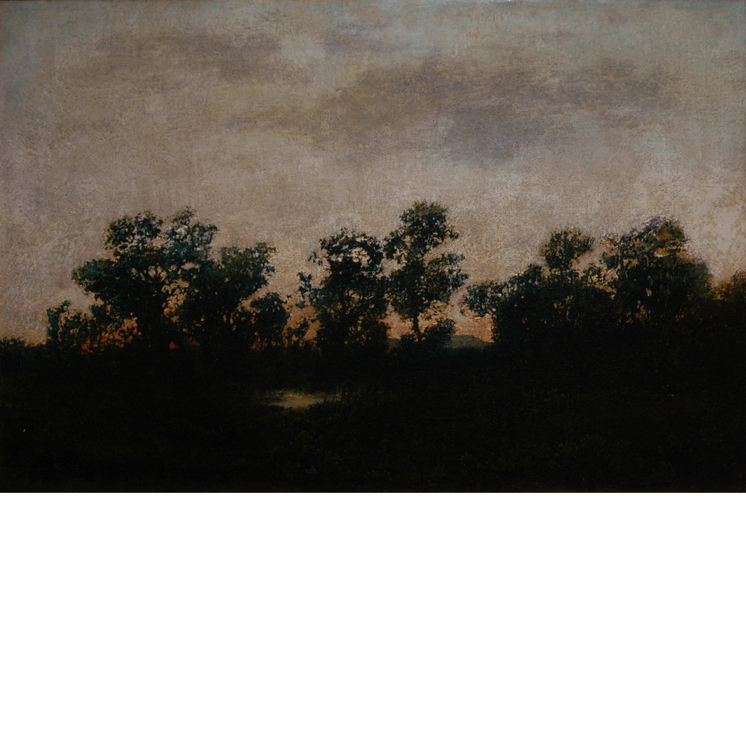 Lot image - Manner of Ralph Albert Blakelock Landscape at Dusk