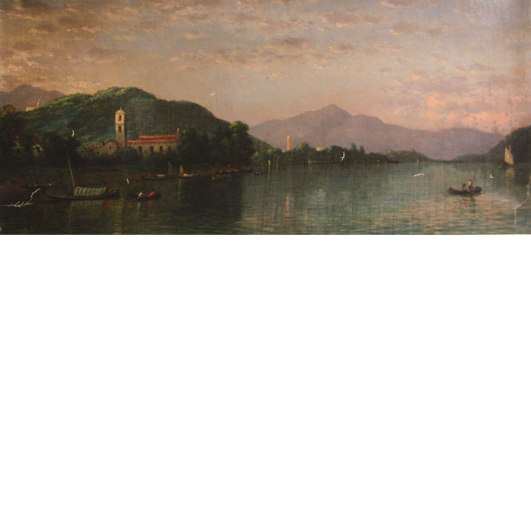 Lot image - Christopher Pearse Cranch American, 1813-1892 View of an Italian Lake