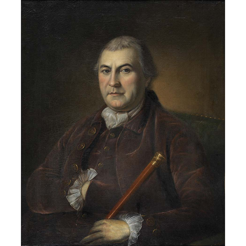Lot image - Charles Willson Peale American, 1741-1827 Portrait of Andrew Caldwell; Together with an American School 18th Century Portrait