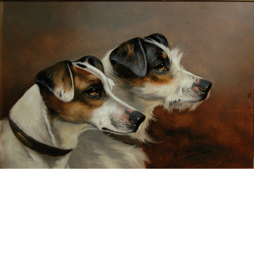 Lot image - Alfred Wheeler British, 1851-1932 Terriers in Profile: Two