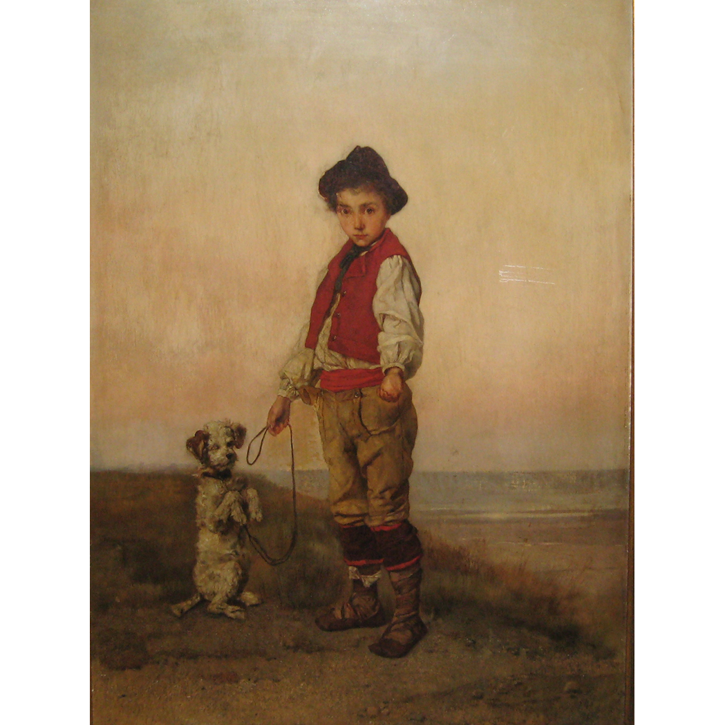 Lot image - Rudolf Hirth du Frenes German, 1846-1916 Boy with a Dog