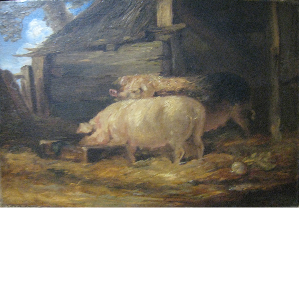 Lot image - Follower of James Ward Two Sows