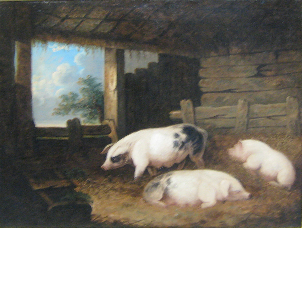 Lot image - Follower of George Morland Three Sows