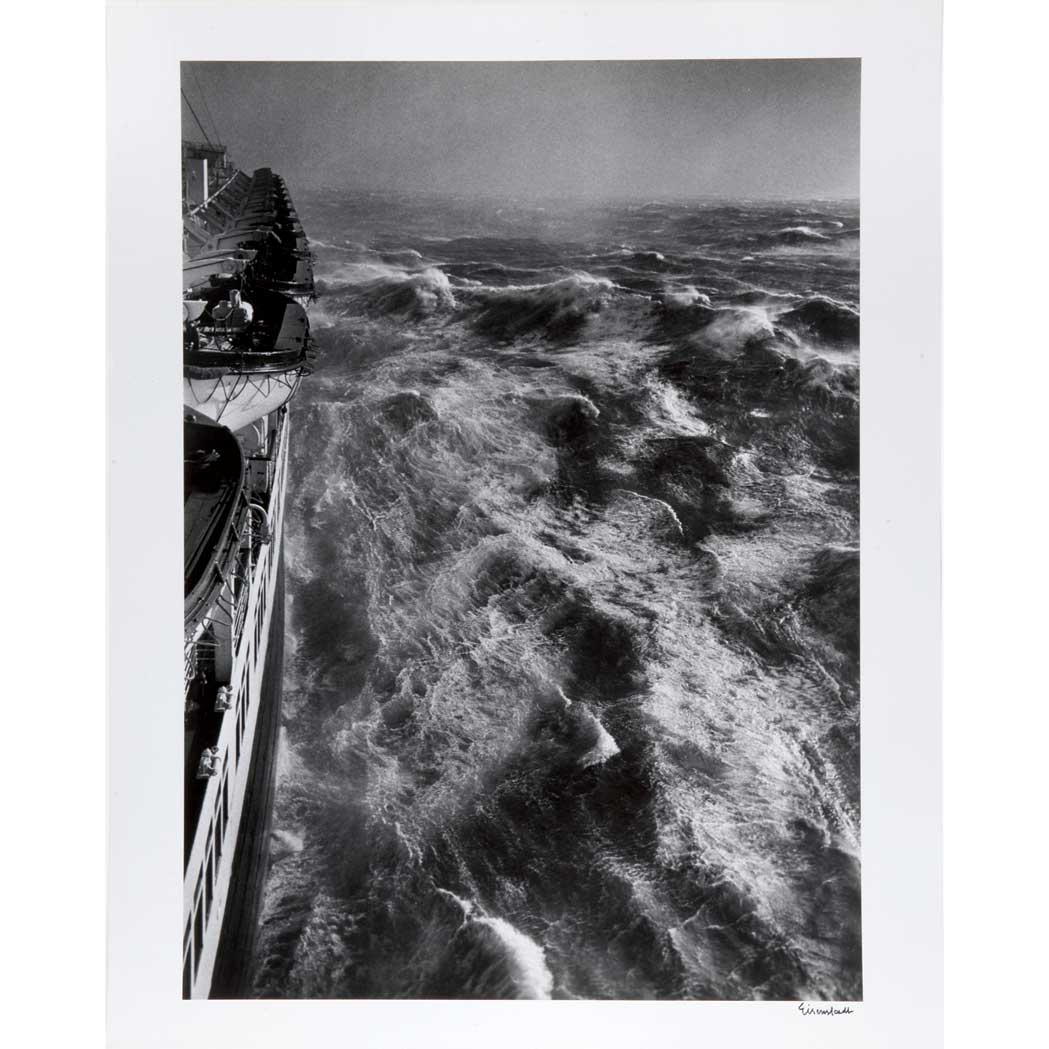 Lot image - EISENSTAEDT, ALFRED (1898-1995) Hurricane in the Atlantic as seen from the S.S. Queen Elizabeth January 1948,