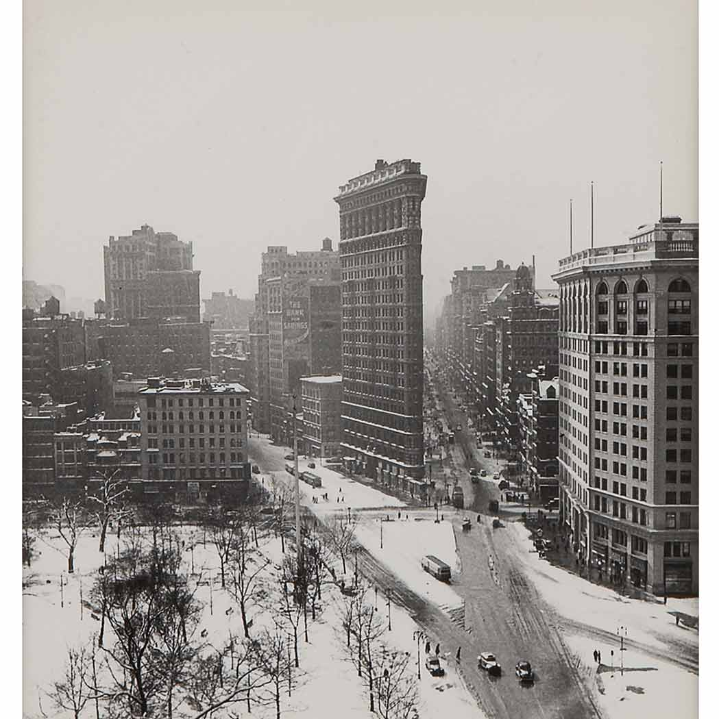 Lot image - RUDY BURCKHARDT[Flatiron in Winter]