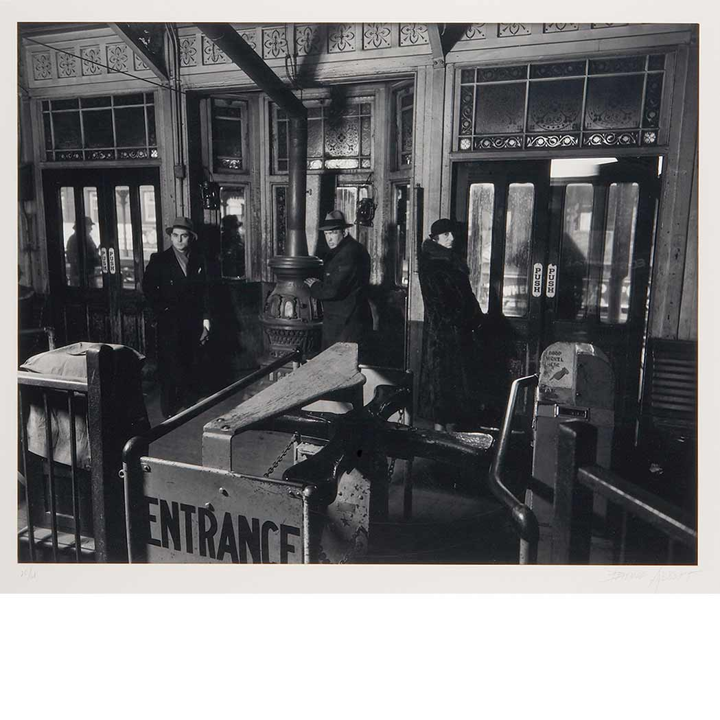 Lot image - ABBOTT, BERENICE (1898-1991)  New York subway entrance