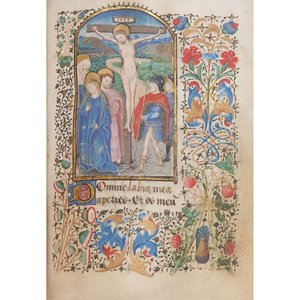 Lot image - [MANUSCRIPT-BOOK OF HOURS]  Book of Hours, manuscript on vellum