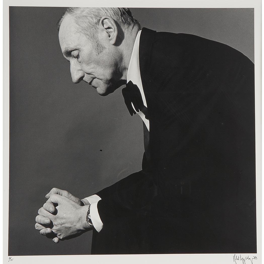 Lot image - MAPPLETHORPE, ROBERT (1946-1989). [Portrait of William Burroughs, 1980]