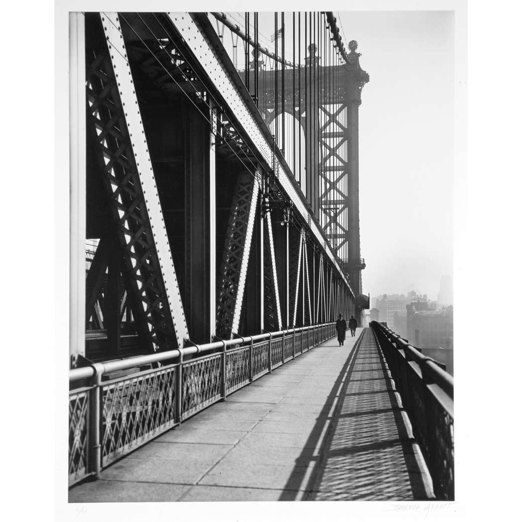 Lot image - ABBOTT, BERENICE (1898-1991)  Walkway, Manhattan Bridge