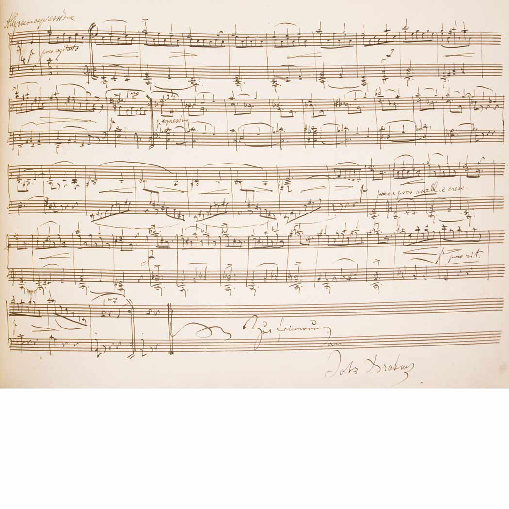Lot image - [MANUSCRIPT-MUSIC]  Album Amicorum of Arnold Wehner