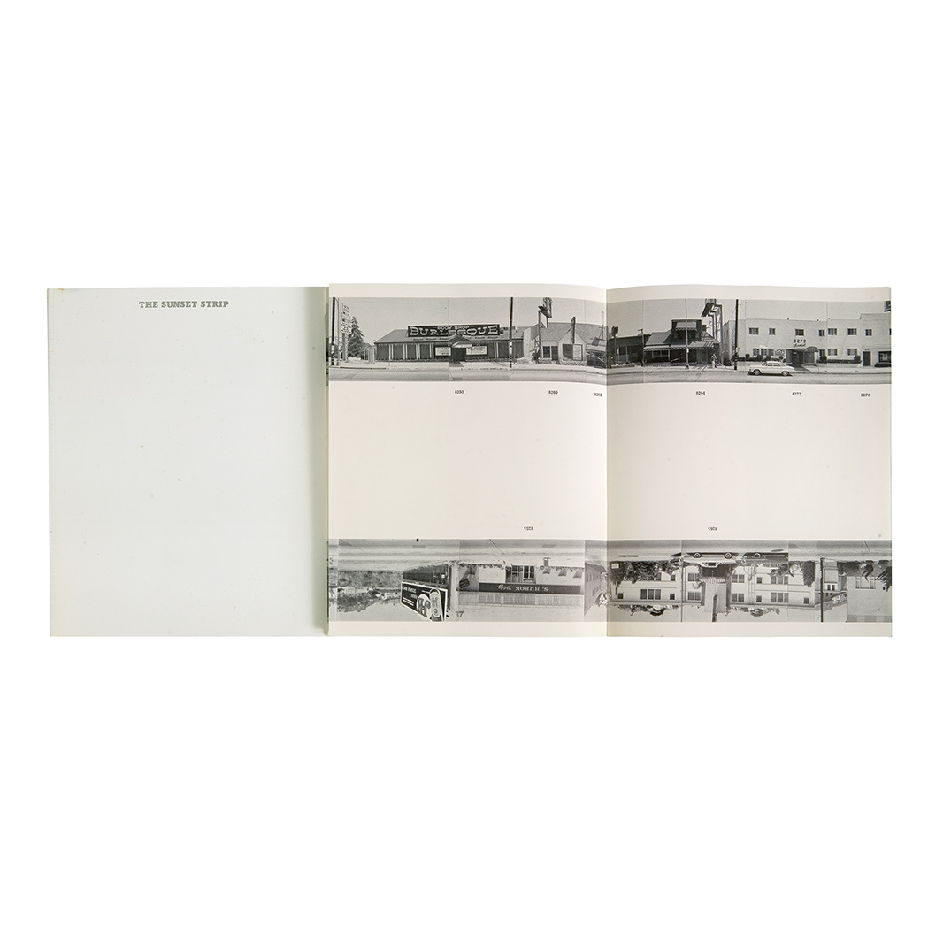 Lot image - [PHOTOBOOK]  RUSCHA, EDWARD. Every Building on the Sunset Strip