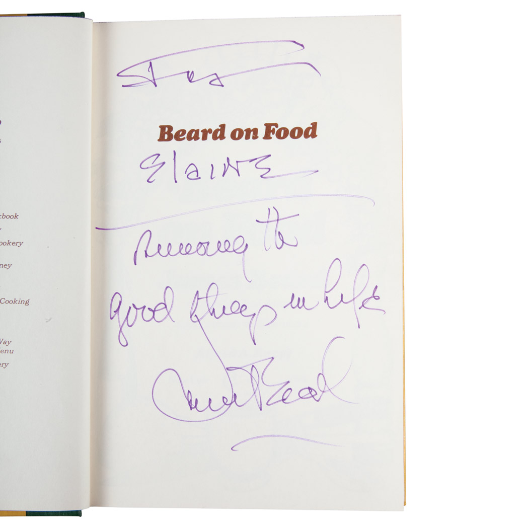Lot image - [FOOD]  Group of approximately twenty books on food and wine