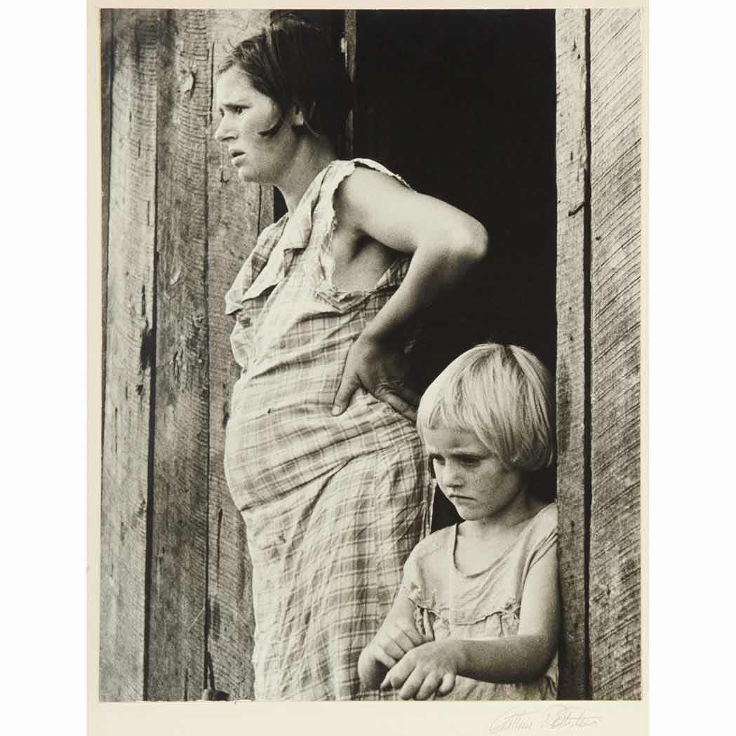 Lot image - ROTHSTEIN, ARTHUR  Sharecroppers wife and child, Arkansas-1935