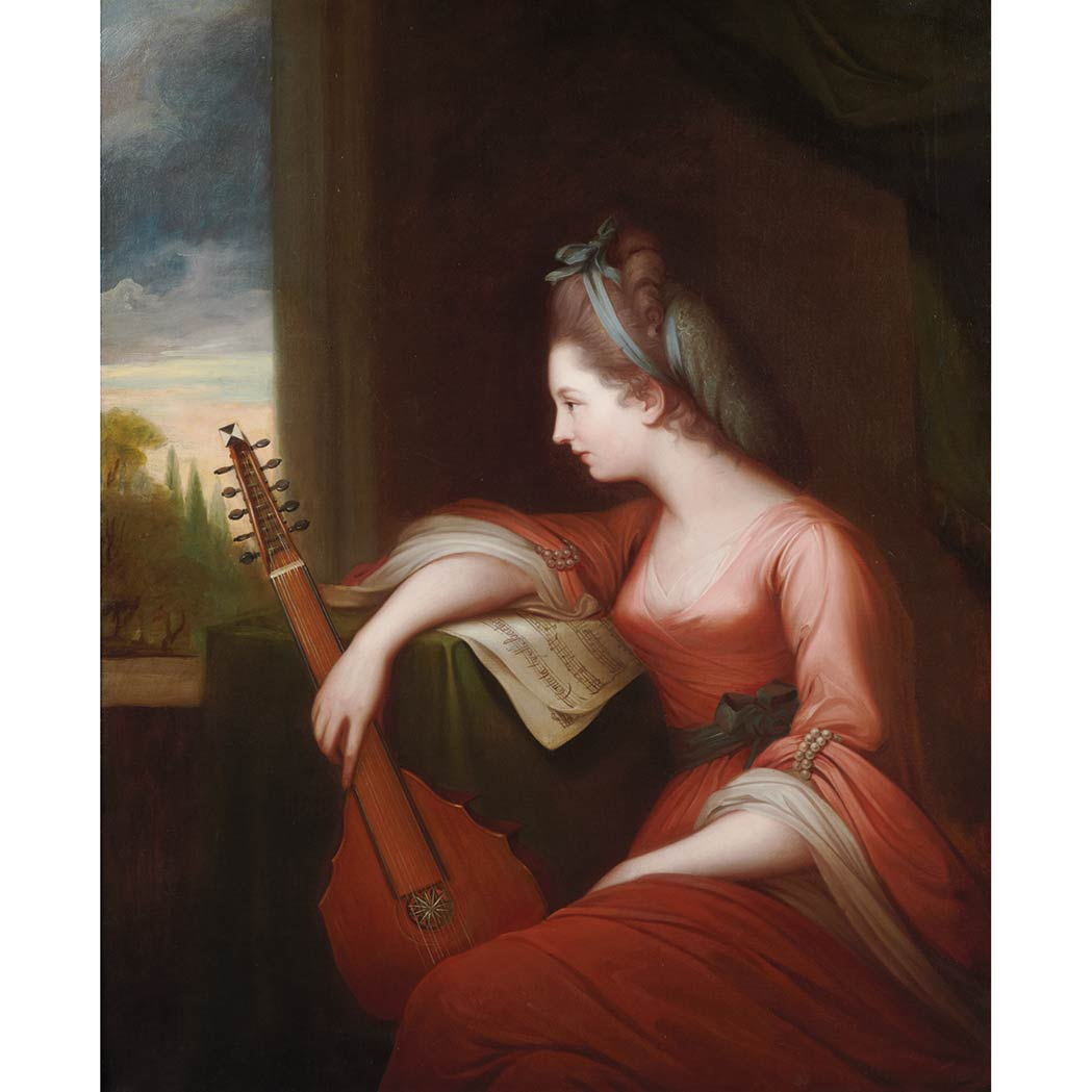 Lot image - Circle of Angelika Kauffmann Lady with a Lute