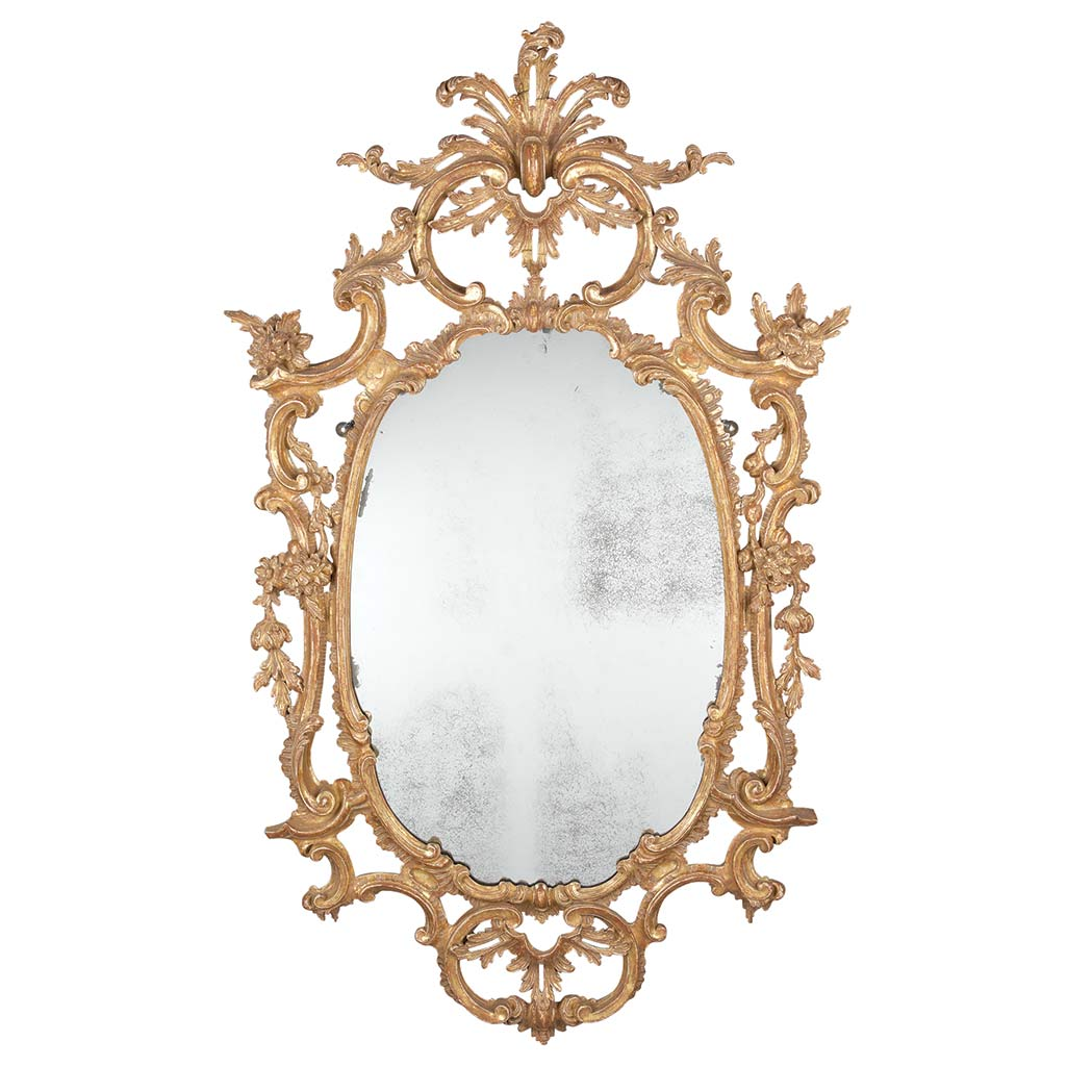 Lot image - George III Gilt-Wood Mirror