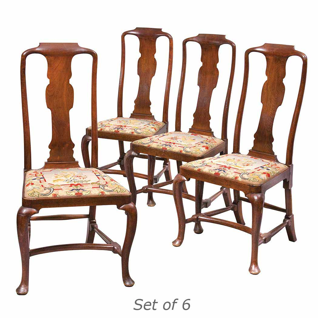 Lot image - Set of Six George II Mahogany Dining Chairs