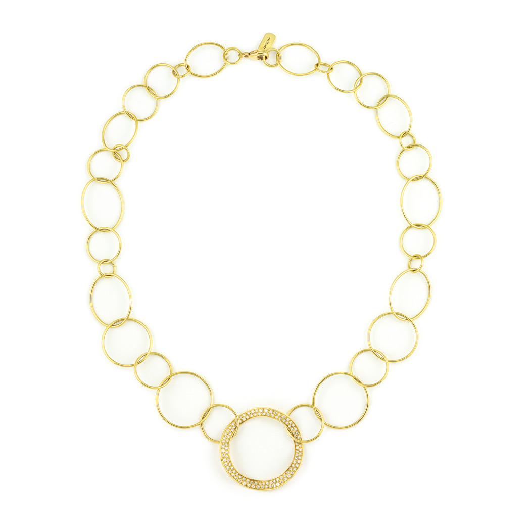 Lot image - Gold and Diamond Necklace